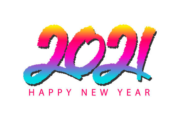 Happy New Year 2021 (Graphic) by hartgraphic · Creative Fabrica