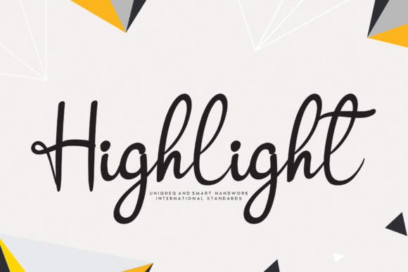 Print on Demand: Highlight Script & Handwritten Font By handmadetipe