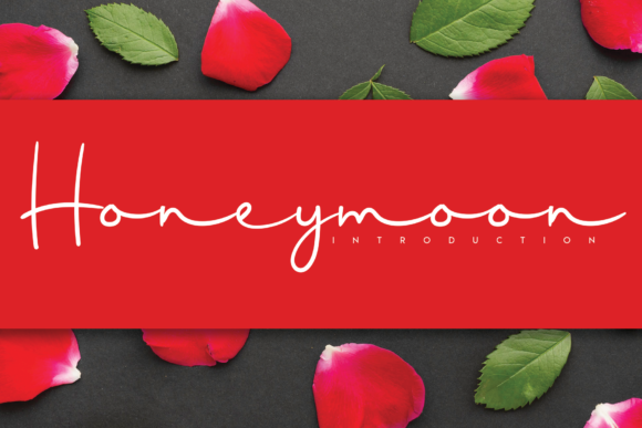 Print on Demand: Honeymoon Script & Handwritten Font By handmadetipe