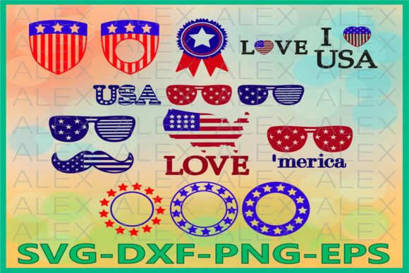 Print on Demand: Independence Day, Patriotic Graphic Illustrations By AlexSVGStudio