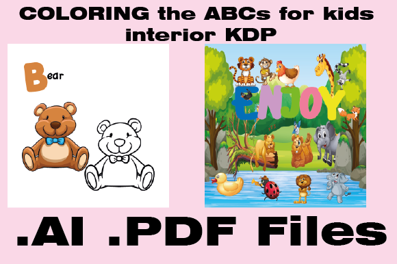 Print on Demand: KDP Interior Coloring the ABCs for Kids Graphic KDP Interiors By KDP_Interior_101