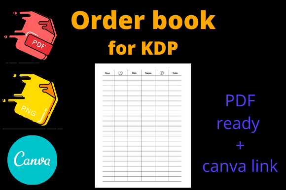 Print on Demand: KDP Order Book for Restaurant Hotels Graphic KDP Interiors By Dunkyshot