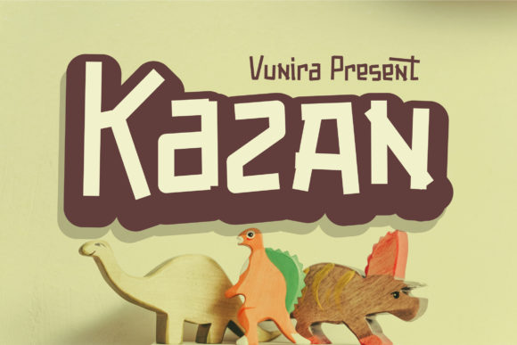 Print on Demand: Kazan Display Font By Vunira