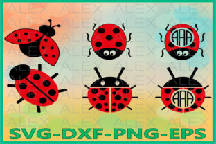 Print on Demand: Ladybug Frame Graphic Illustrations By AlexSVGStudio
