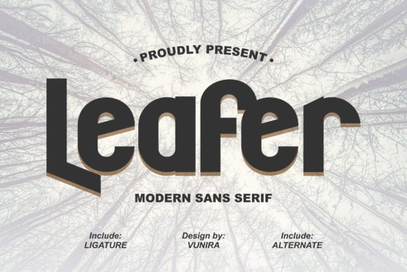 Print on Demand: Leafer Sans Serif Font By Vunira