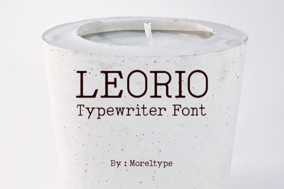 Print on Demand: Leorio Display Font By Moreltype - Image 1