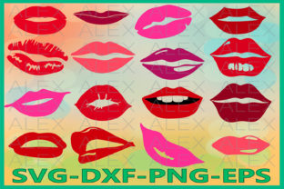 Print on Demand: Lips, Lips Silhouette, Makeup Graphic Illustrations By AlexSVGStudio