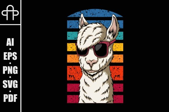 Print on Demand: Llama Eyeglasses Style Graphic Illustrations By Andypp