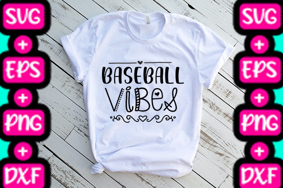 Baseball Vibes Graphic By Svg In Design Creative Fabrica