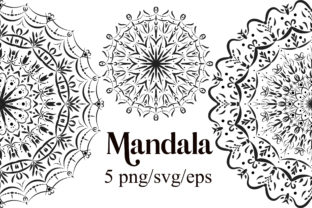 Print on Demand: Mandala Clipart Graphic Illustrations By PinkPearly