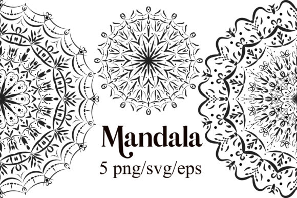 Mandala Clipart Graphic Illustrations By PinkPearly