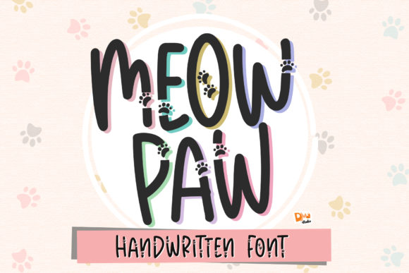 Print on Demand: Meow Paw Display Font By dmletter31