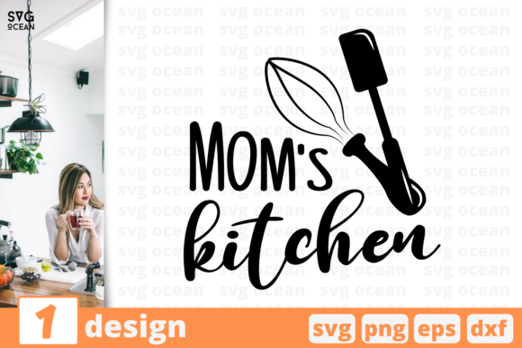 Mom's Kitchen Graphic CMS Templates By SvgOcean