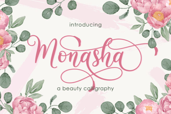 Print on Demand: Monasha Script & Handwritten Font By Almeera Studio
