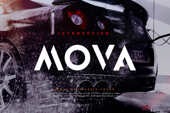 Print on Demand: Mova Display Font By geengraphy