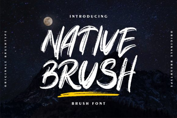 Print on Demand: Native Brush Display Font By Vunira
