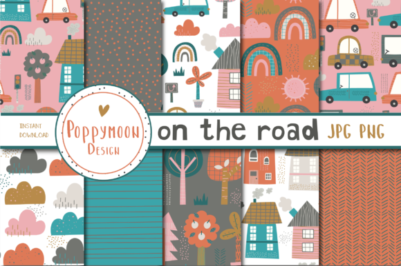 Print on Demand: On the Road Paper Graphic Patterns By poppymoondesign