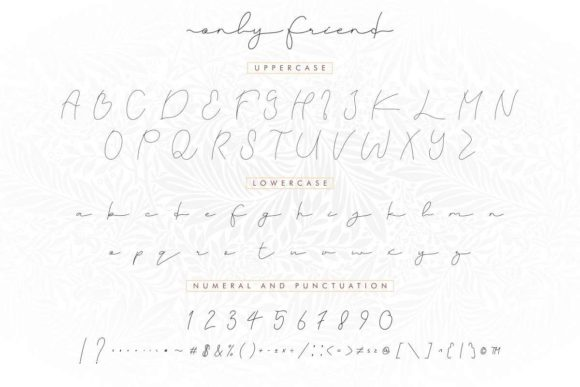 Only Friend Font Preview
