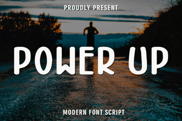 Print on Demand: Power Up Display Font By rangkaiaksara