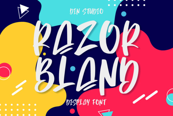 Print on Demand: Razor Bland Script & Handwritten Font By Din Studio