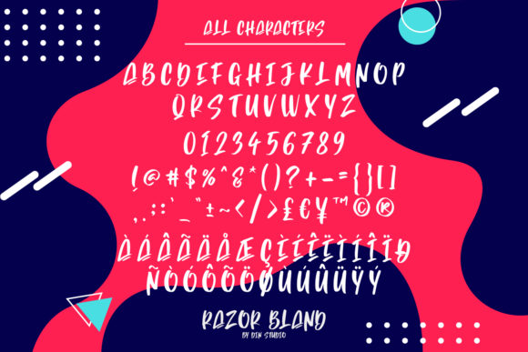 Razor Bland Font Preview