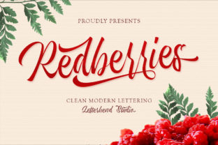 Print on Demand: Redberries Script & Handwritten Font By letterhend