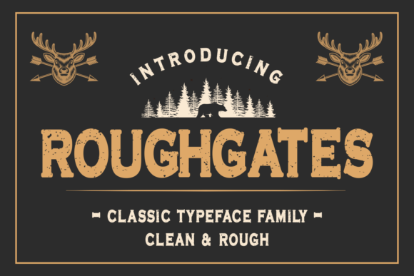 Print on Demand: Roughgates Display Font By Mozarella