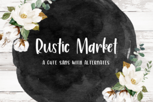 Print on Demand: Rustic Market Script & Handwritten Font By BeckMcCormick