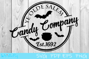 Print on Demand: Salem Candy Company Salem Halloween Graphic Crafts By Whistlepig Designs