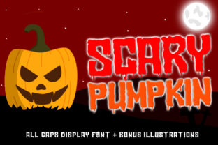 Print on Demand: Scary Pumpkin Display Font By Typerex