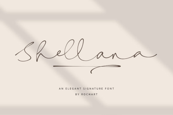 Print on Demand: Shellana Script & Handwritten Font By RochArt