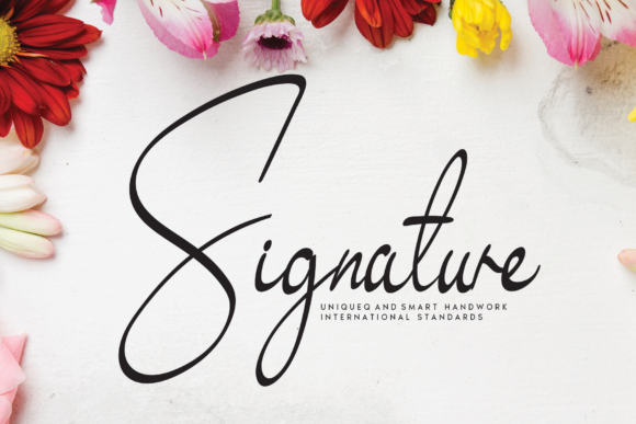 Print on Demand: Signature Script & Handwritten Font By handmadetipe