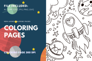 Print on Demand: Space Ship Coloring Book for Kdp Graphic Coloring Pages & Books Kids By stanosh