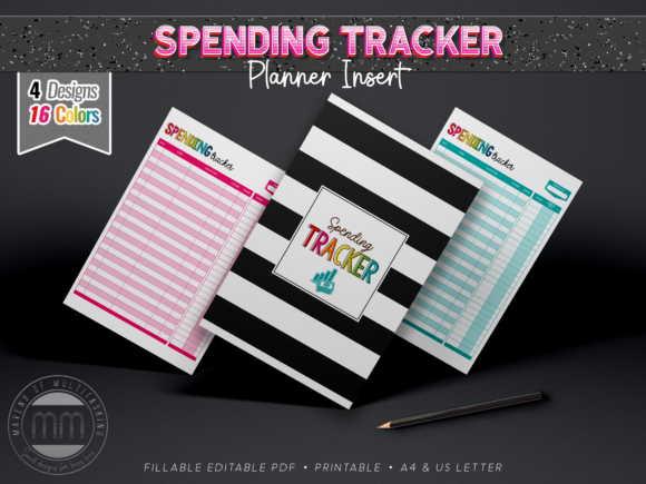 Print on Demand: Spending Tracker - Planner Insert Graphic Print Templates By MavensOfMultitasking