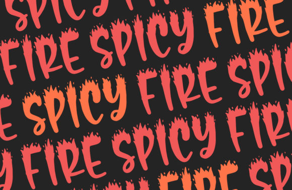 Spicy Fire Font Preview