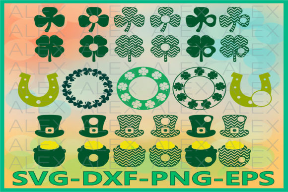 Print on Demand: St Patrick's Day, Clover Graphic Illustrations By AlexSVGStudio