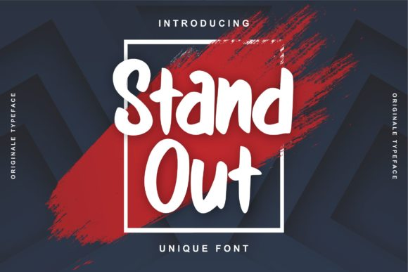 Print on Demand: Stand out Display Schriftarten von Vunira