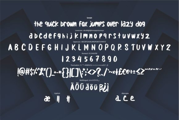 Stand out Font Image