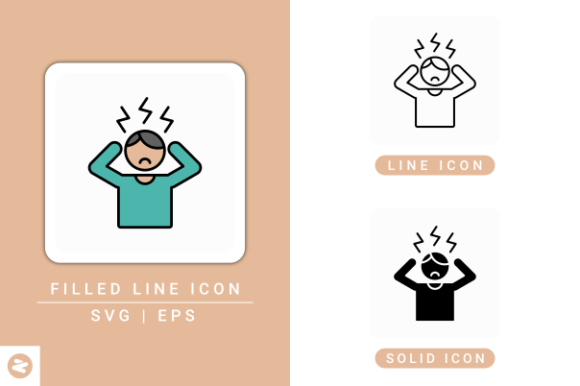 Print on Demand: Stress Icons Set Graphic Icons By zenorman03
