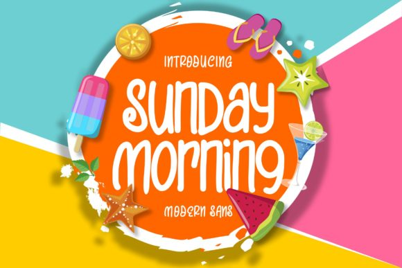 Print on Demand: Sunday Morning Script & Handwritten Font By Vunira