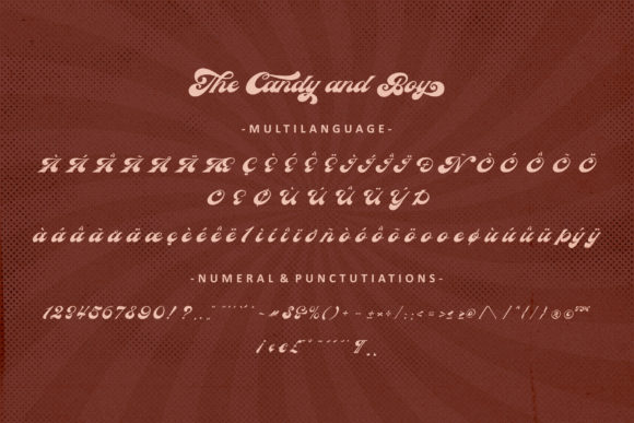 The Candy and Boy Font Font