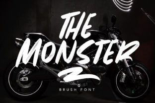 Print on Demand: The Monster Display Font By Maulana Creative
