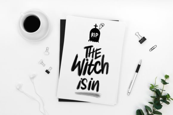 Print on Demand: The Witch is in Graphic Print Templates By Ginkean