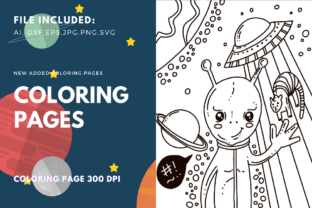 Print on Demand: Ufo Coloring Page for Kdp Graphic Coloring Pages & Books Kids By stanosh