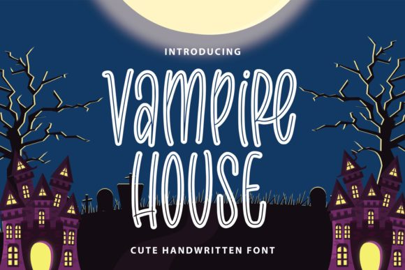 Print on Demand: Vampire House Display Font By Typefar