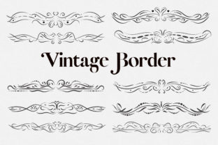 Print on Demand: Vintage Border Clipart Graphic Illustrations By PinkPearly