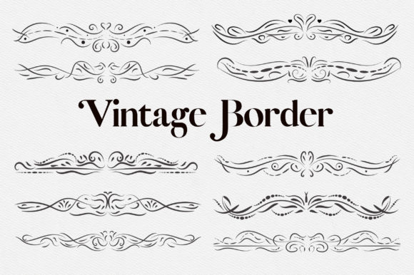 Vintage Border Clipart Graphic Illustrations By PinkPearly