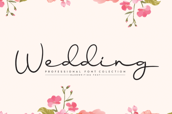 Print on Demand: Wedding Script & Handwritten Font By handmadetipe