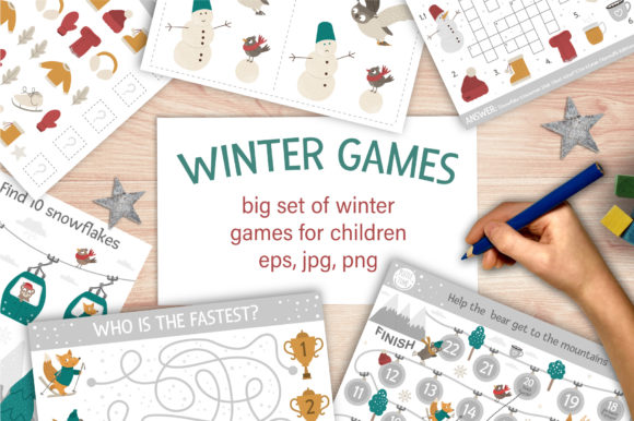 Winter Games Graphic Illustrations By lexiclaus