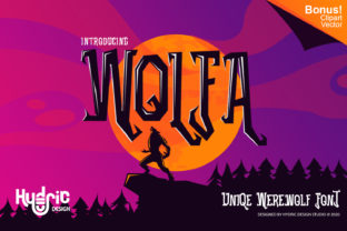 Print on Demand: Wolfa Display Font By Hydric Design
